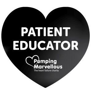 Pumping Marvellous Patient Educator Badge Black