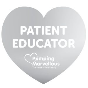 Pumping Marvellous Patient Educator Badge Silver