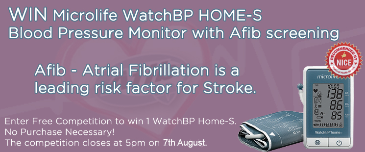 Win a Microlife BP Watch Home-S Blood Pressure Monitor With Atrial Fibrillation Detection! Worth £72!