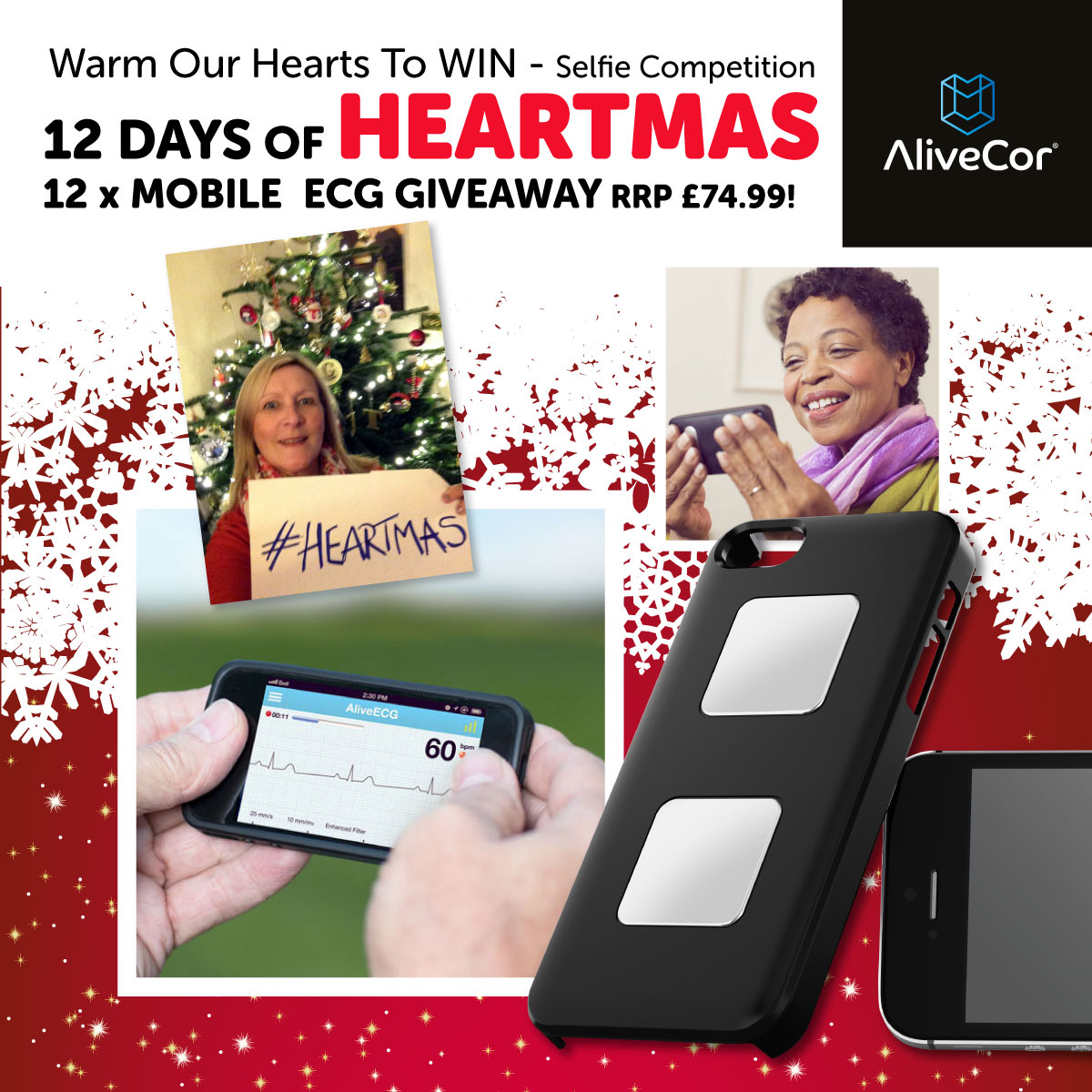 WIN one of twelve AliveCor mobile ECGs