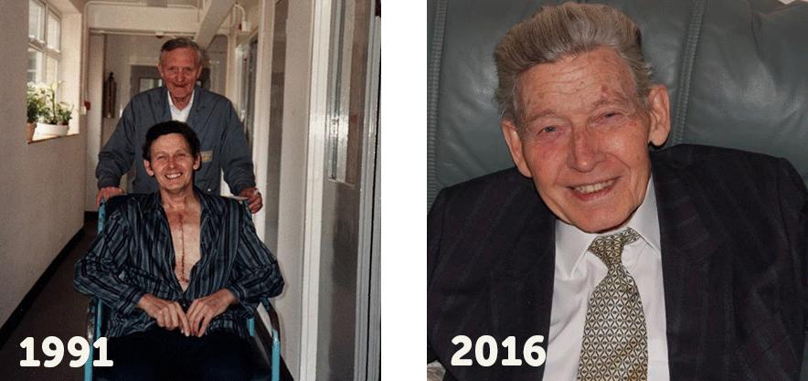 Arthur Whitfield 25 year heart transplant birthday 1991:2016