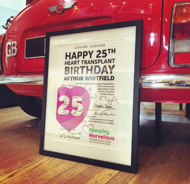 Happy Heart Transplant Birthday Arthur Whitfield