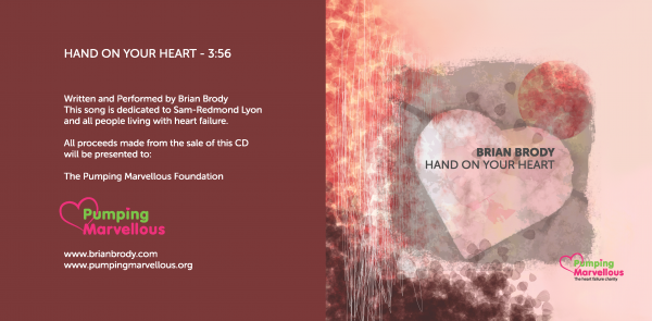 Hand On Your Heart Charity CD Cover - Brian Brody