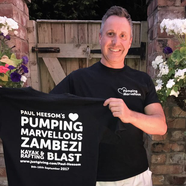 Paul Heesom's Zambezi Blast for Heart Failure Charity