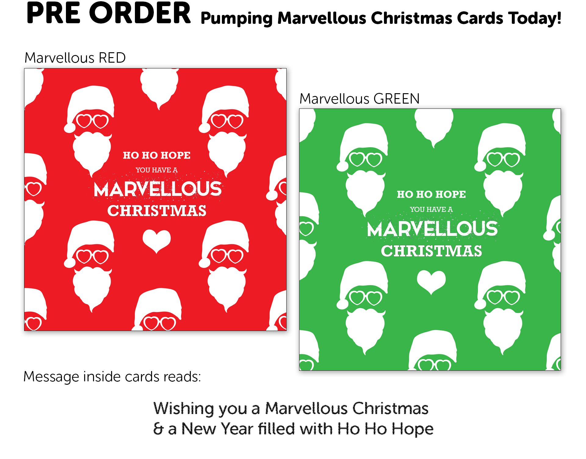 Pumping Marvellous Charity Christmas Cards