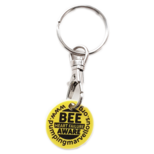 Key Ring / Trolley Tokens Bee Heart Failure Aware