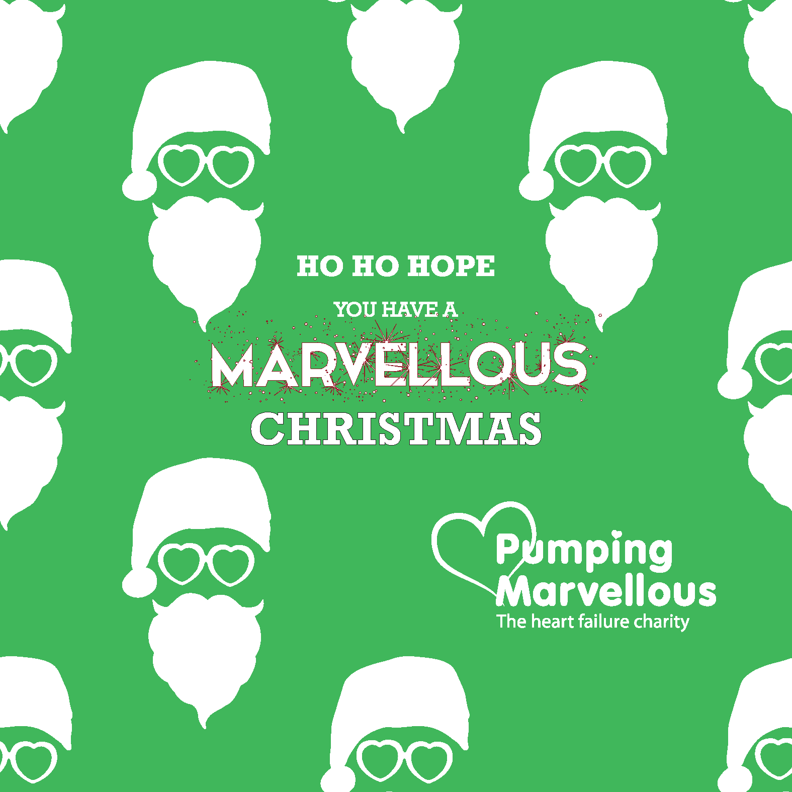 Pumping Marvellous DIGITAL Christmas Card 2017 Green