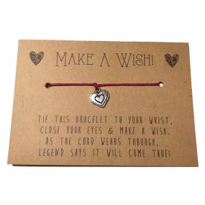 Wish-Bracelets---Heart-Charm---Red