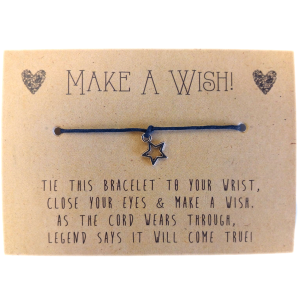 Wish-Bracelets---Star-Charm---Red
